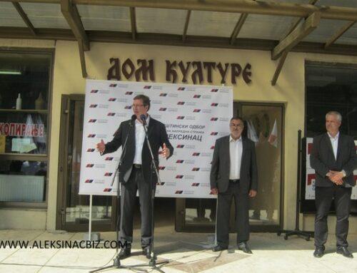 'PREDSEDNIK VUČIĆ U ALEKSINCU – UTORAK , 19.10 2021